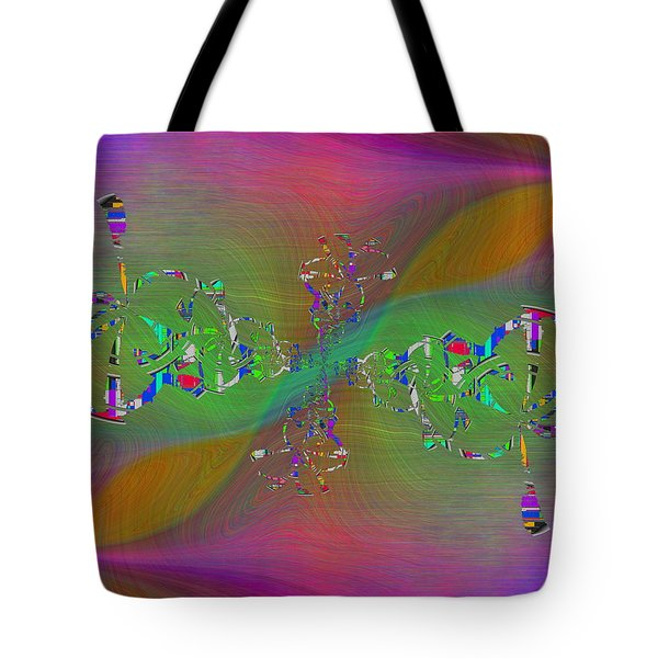 Tote Bag featuring the digital art Abstract Cubed 376 by Tim Allen