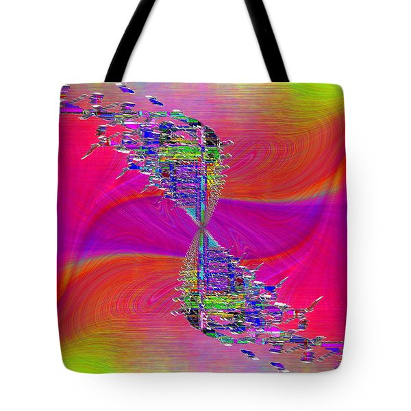Tote Bag featuring the digital art Abstract Cubed 377 by Tim Allen
