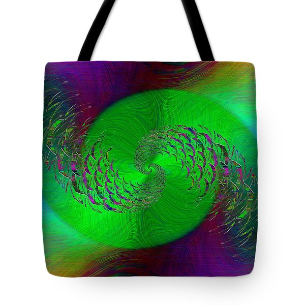 Tote Bag featuring the digital art Abstract Cubed 378 by Tim Allen