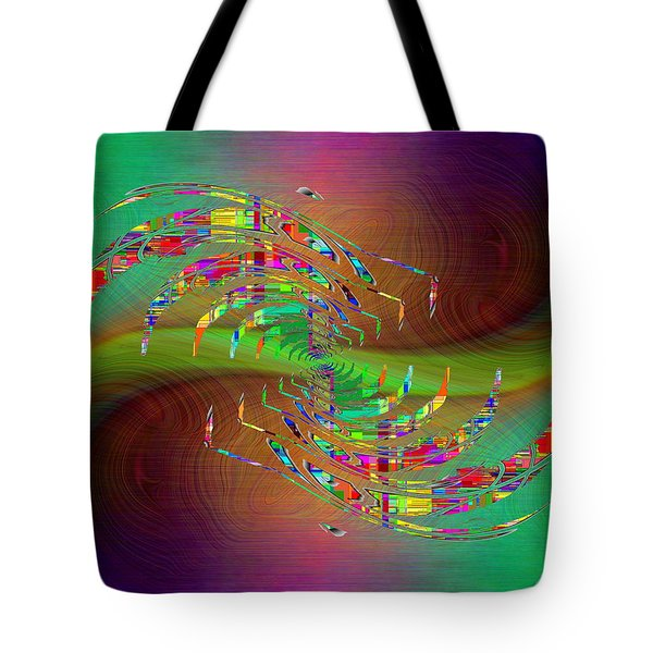 Tote Bag featuring the digital art Abstract Cubed 379 by Tim Allen