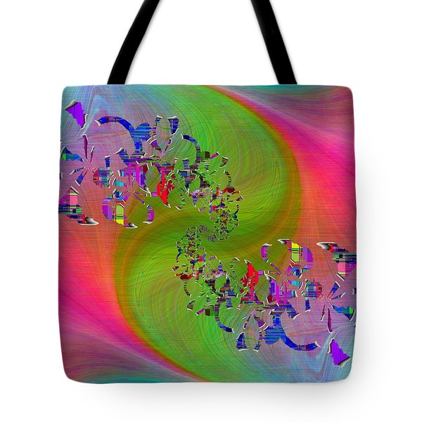 Tote Bag featuring the digital art Abstract Cubed 381 by Tim Allen