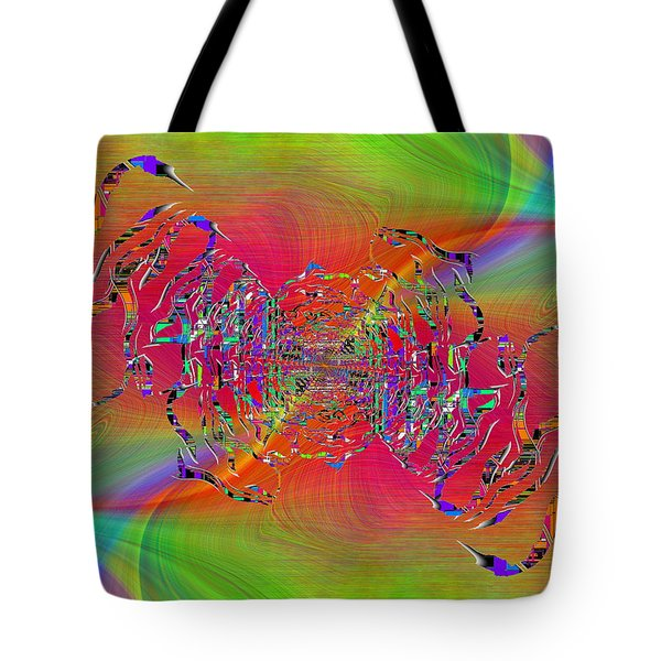 Tote Bag featuring the digital art Abstract Cubed 382 by Tim Allen