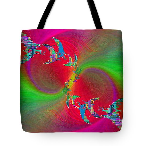 Tote Bag featuring the digital art Abstract Cubed 383 by Tim Allen