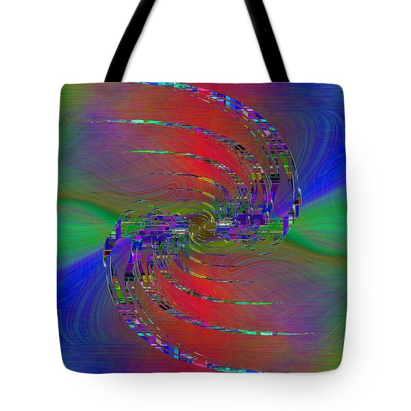 Tote Bag featuring the digital art Abstract Cubed 384 by Tim Allen