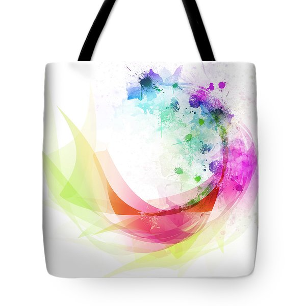 Abstract Curved Tote Bag
