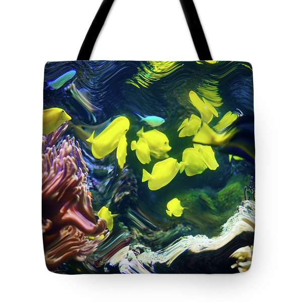 Tote Bag featuring the photograph Abstract Dancing Colorful Ish by Dennis Dame