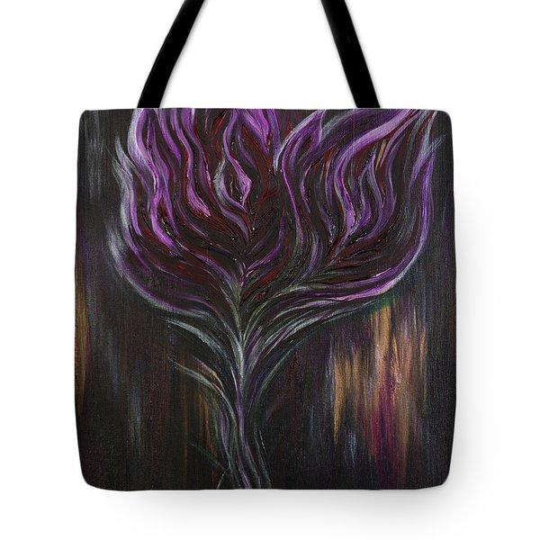 Abstract Dark Rose Tote Bag