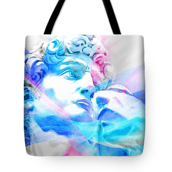 Tote Bag featuring the painting Abstract David Michelangelo 3 by J- J- Espinoza