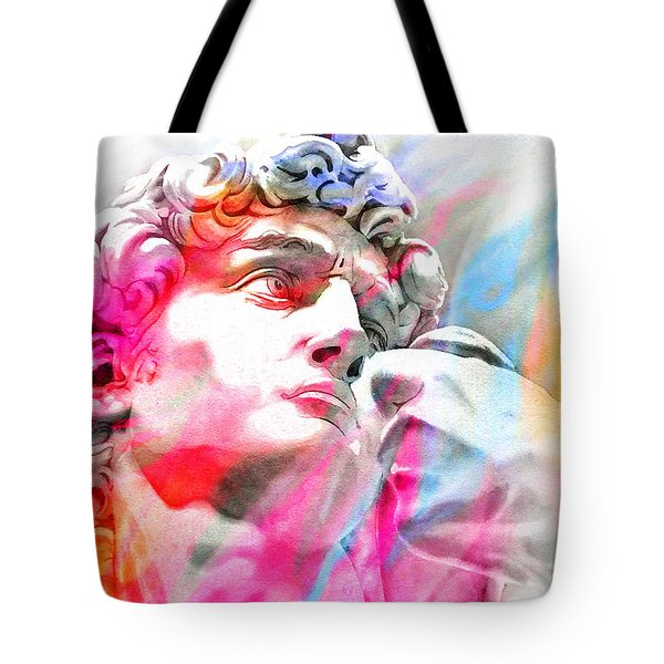 Tote Bag featuring the painting Abstract David Michelangelo 4 by J- J- Espinoza