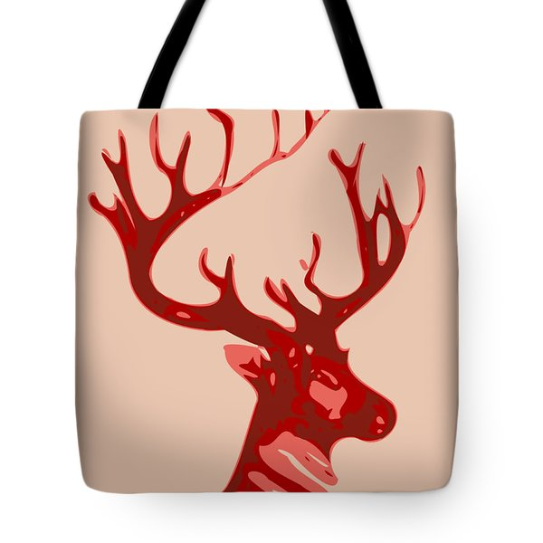 Abstract Deer Contours Glaze Tote Bag