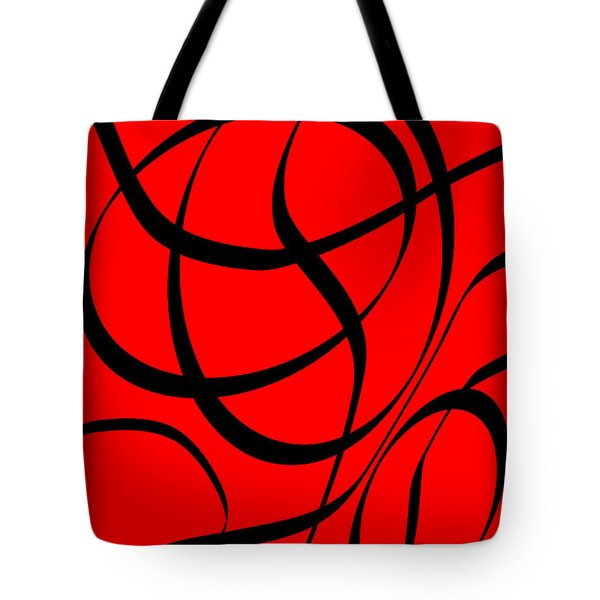 Abstract Design In Red And Black Tote Bag