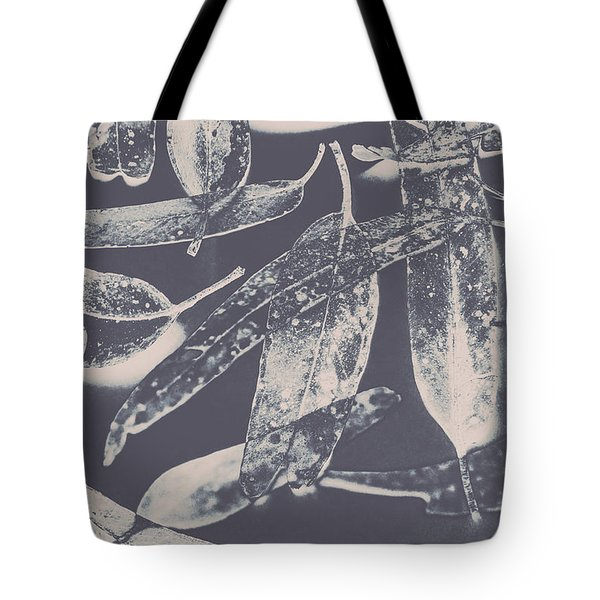 Abstract Design Tree Leaves Background Tote Bag