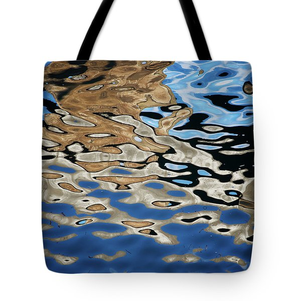 Abstract Dock Reflections I Color Tote Bag