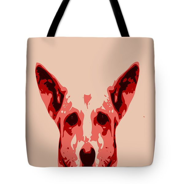 Abstract Dog Contours Tote Bag