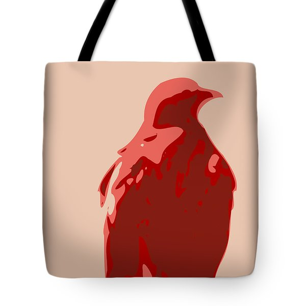 Abstract Eagle Contours Red Tote Bag