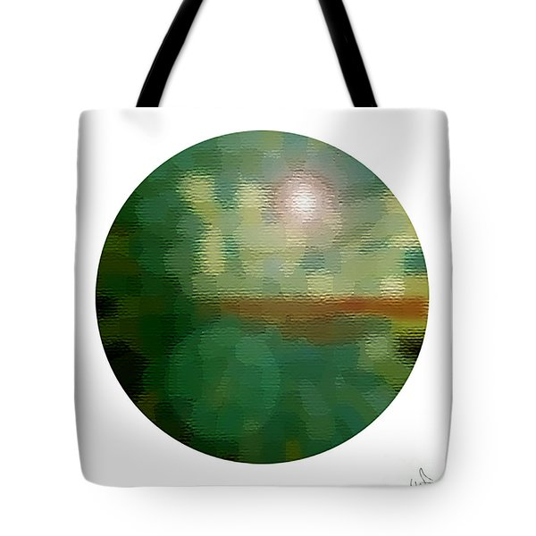 Abstract Earth Equator Tote Bag