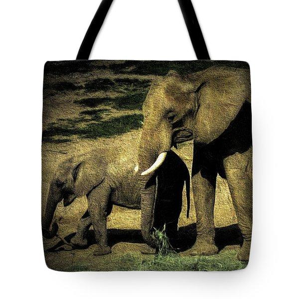 Abstract Elephants 23 Tote Bag