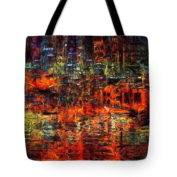 Abstract Evening Tote Bag