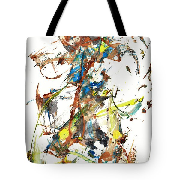 Tote Bag featuring the painting Abstract Expressionism Painting Series 1040.050812 by Kris Haas