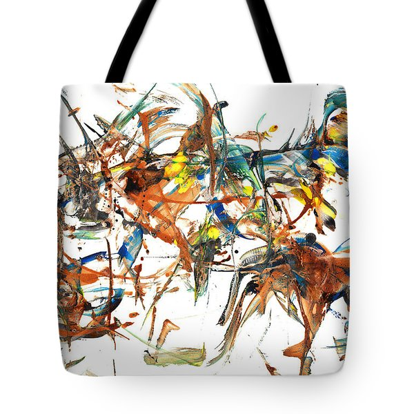 Tote Bag featuring the painting Abstract Expressionism Painting Series 1041.050812 by Kris Haas