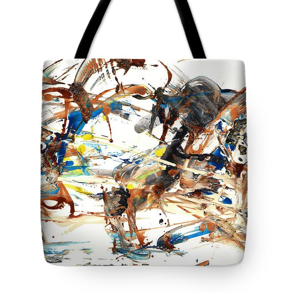 Tote Bag featuring the painting Abstract Expressionism Painting Series 1042.050812 by Kris Haas