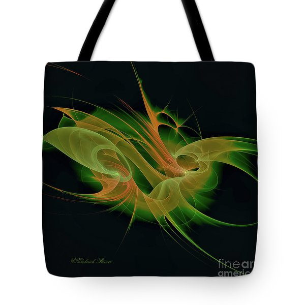 Tote Bag featuring the digital art Abstract Ffz by Deborah Benoit