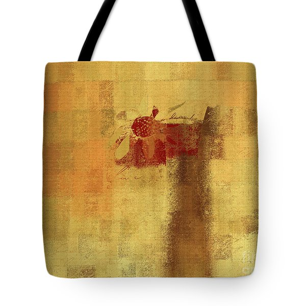 Abstract Floral - 14v2ft Tote Bag