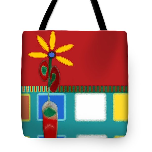 Abstract Floral Art 129 Tote Bag