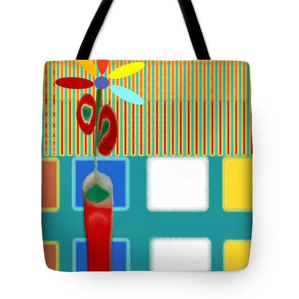 Abstract Floral Art 130 Tote Bag