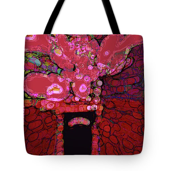 Abstract Floral Art 160 Tote Bag