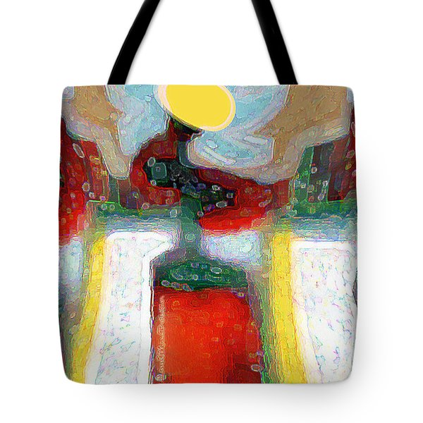 Abstract Floral Art 208 Tote Bag