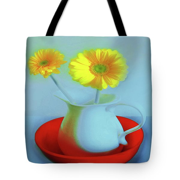 Abstract Floral Art 268 Tote Bag
