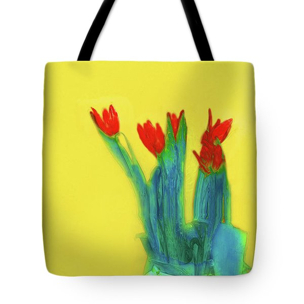 Abstract Floral Art 345 Tote Bag