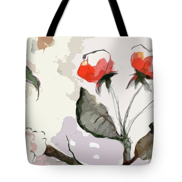Abstract Floral Art Pink Blossoms 2 Tote Bag