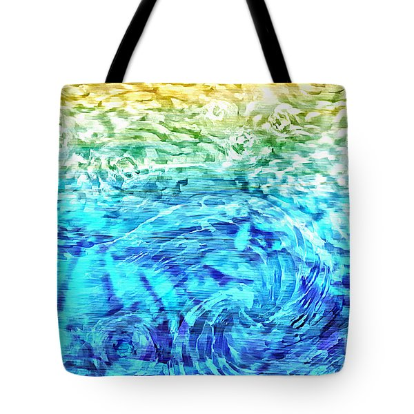 Tote Bag featuring the painting Abstract Floral Dl312016 by Mas Art Studio