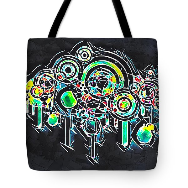 Tote Bag featuring the mixed media Abstract Floral by Lita Kelley