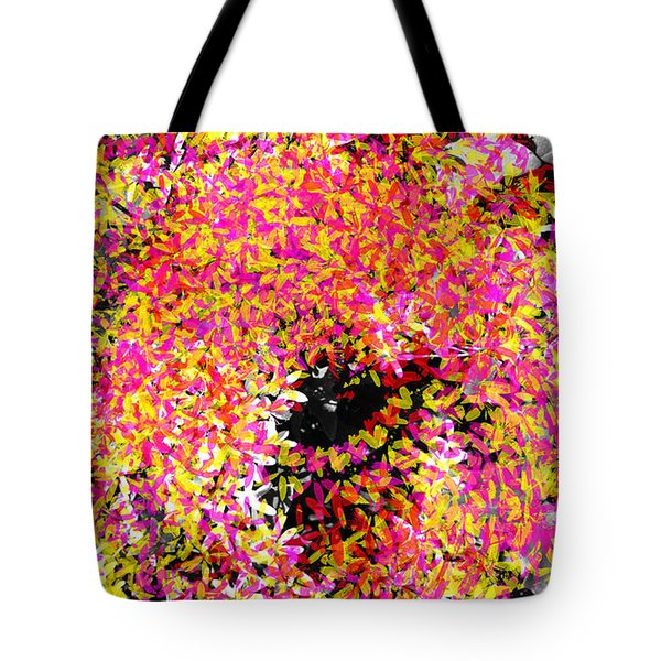 Abstract Floral Swirl No.3 Tote Bag