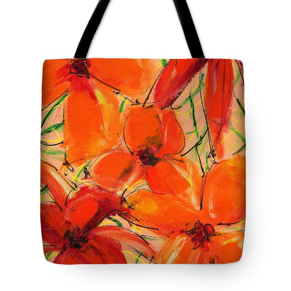 Abstract Floral Two Tote Bag