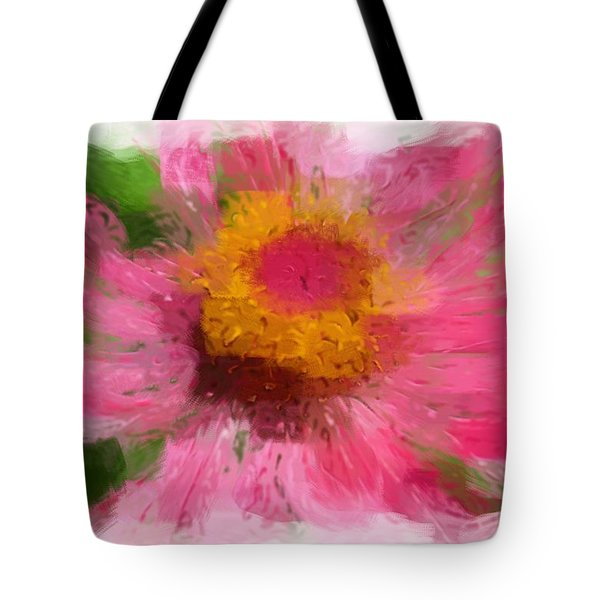 Abstract Flower Expressions Tote Bag