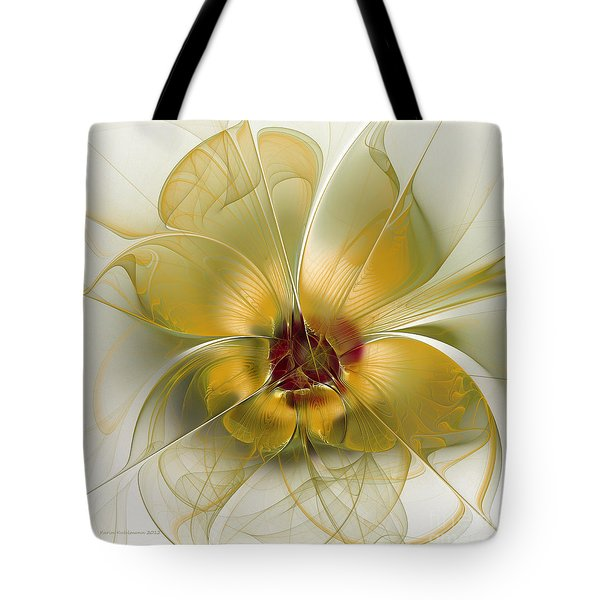 Abstract Flower With Silky Elegance Tote Bag