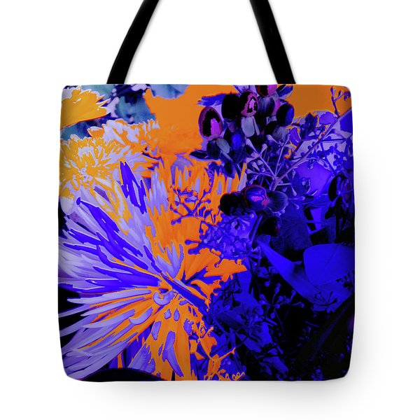 Abstract Flowers Of Light Series #1 Tote Bag