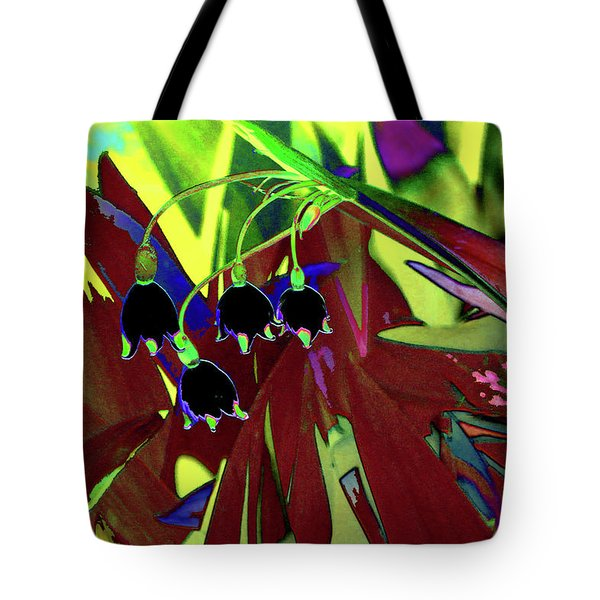 Abstract Flowers Of Light Series #10 Tote Bag