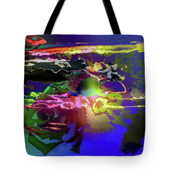 Abstract Flowers Of Light Series #11 Tote Bag