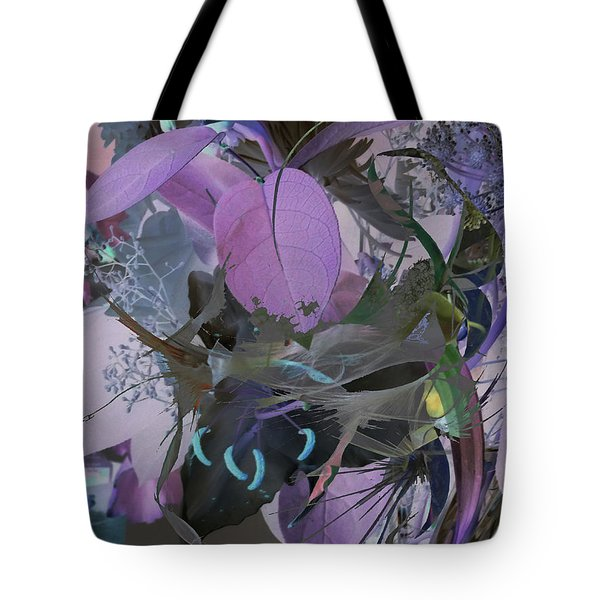 Abstract Flowers Of Light Series #12 Tote Bag
