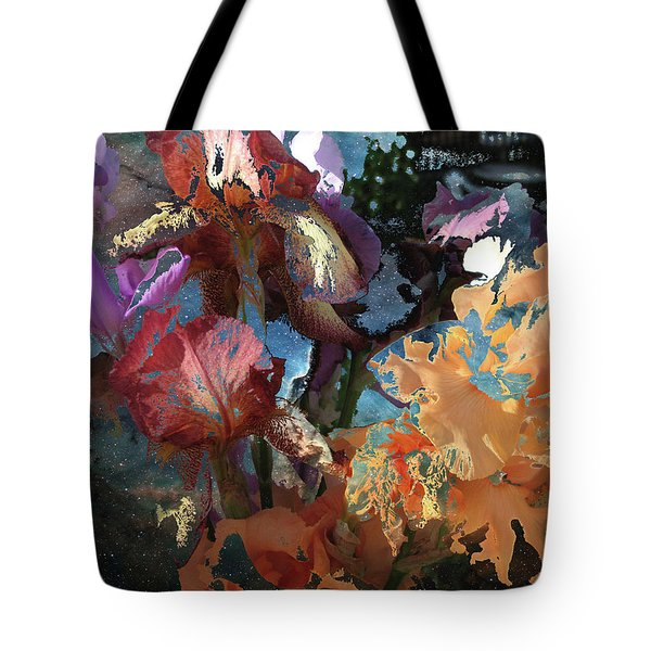 Abstract Flowers Of Light Series #15 Tote Bag
