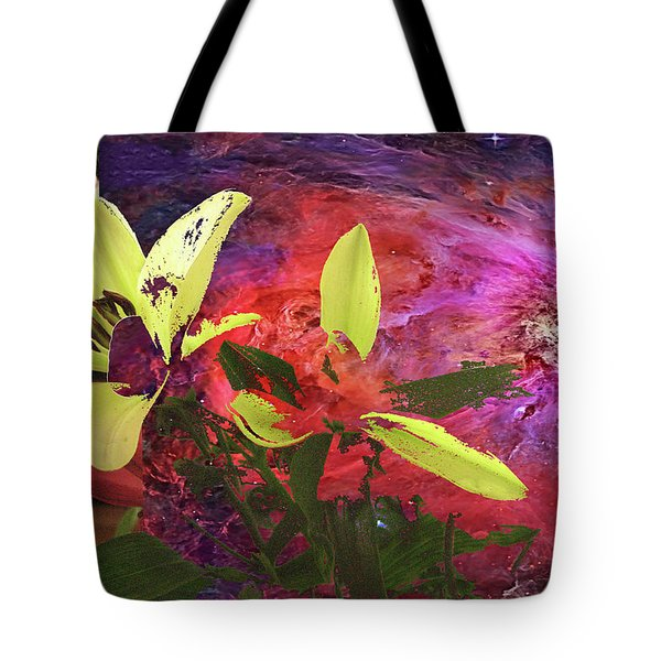 Abstract Flowers Of Light Series #16 Tote Bag