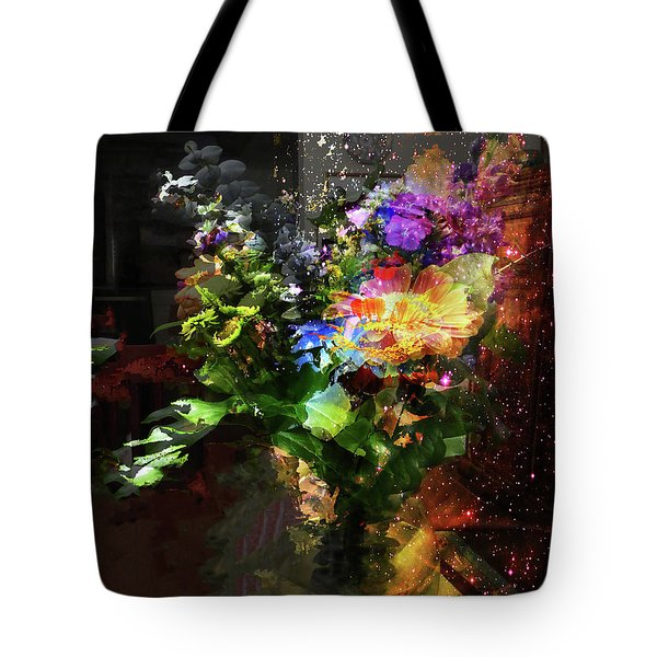 Abstract Flowers Of Light Series #17 Tote Bag