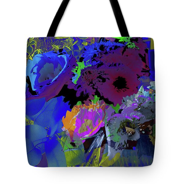 Abstract Flowers Of Light Series #18 Tote Bag