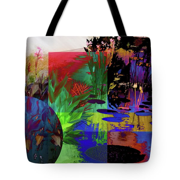 Abstract Flowers Of Light Series #19 Tote Bag