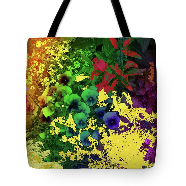 Abstract Flowers Of Light Series #2 Tote Bag